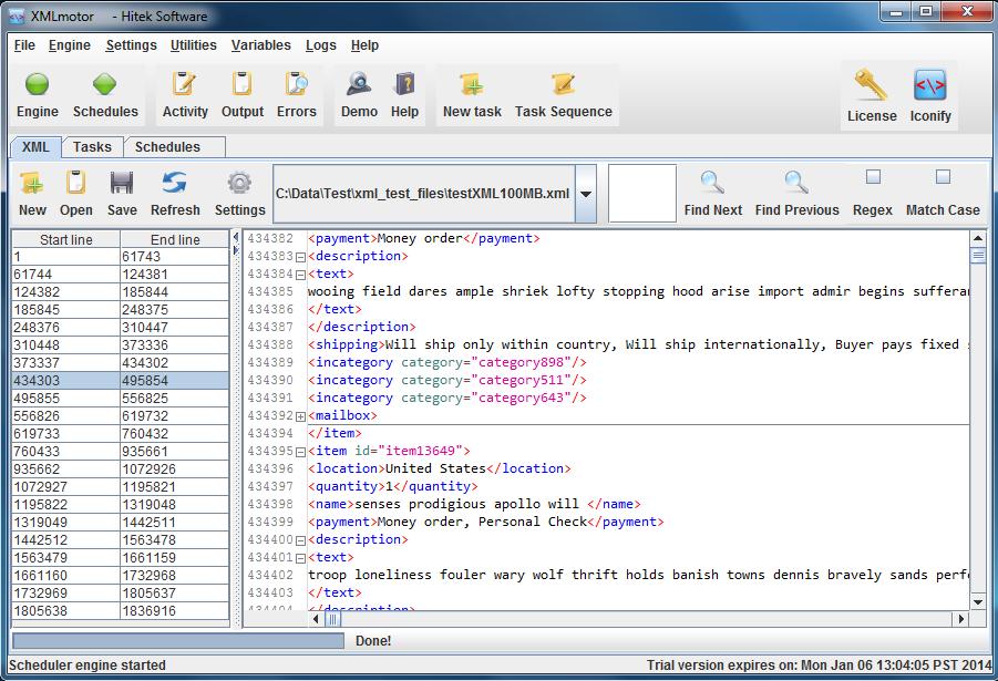 XMLmotor screenshot